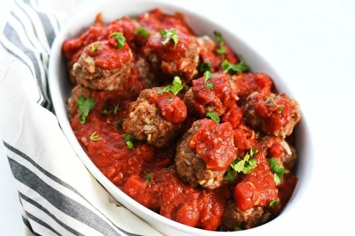 Jumbo beef meatballs