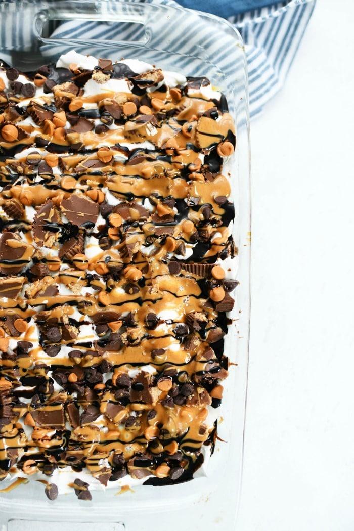 Peanut Butter Poke Cake idea