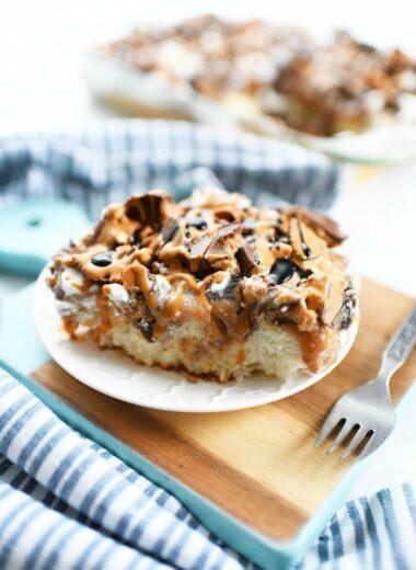 Peanut Butter poke cake recipe