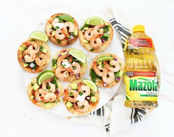 Shrimp tostadas