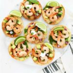 shrimp tostada meal