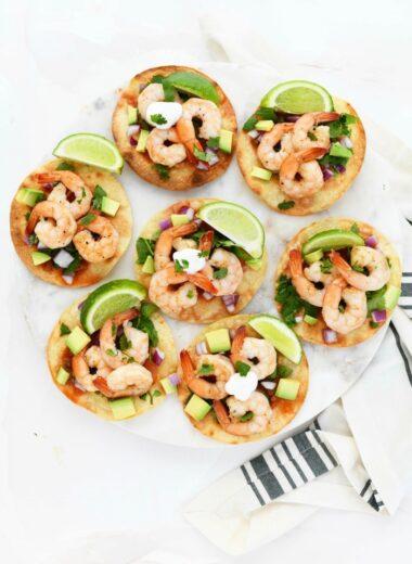 shrimp tostada meal