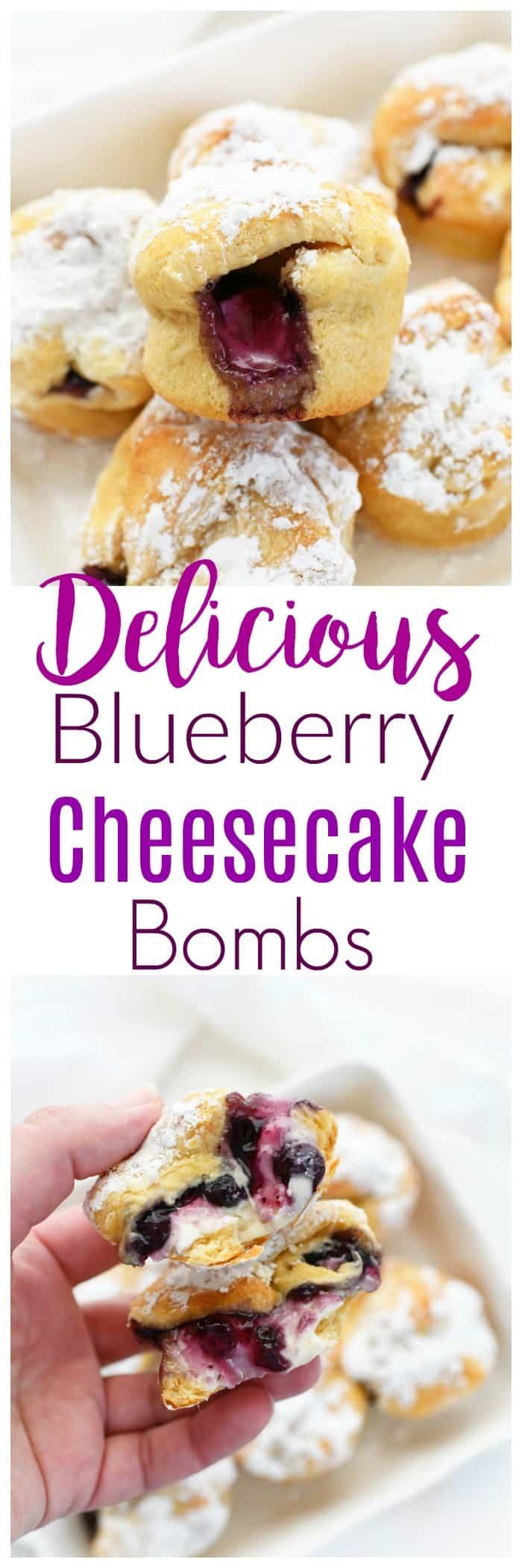 Blueberry Cheesecake Bombs