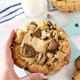 Jumbo Reeses Cup Cookies