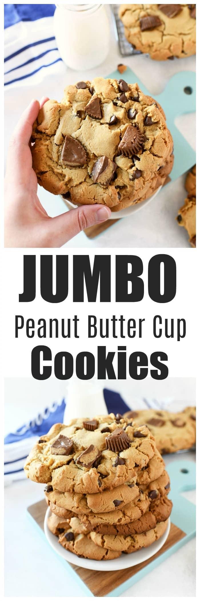 JUMBO Peanut Butter Cup Cookies