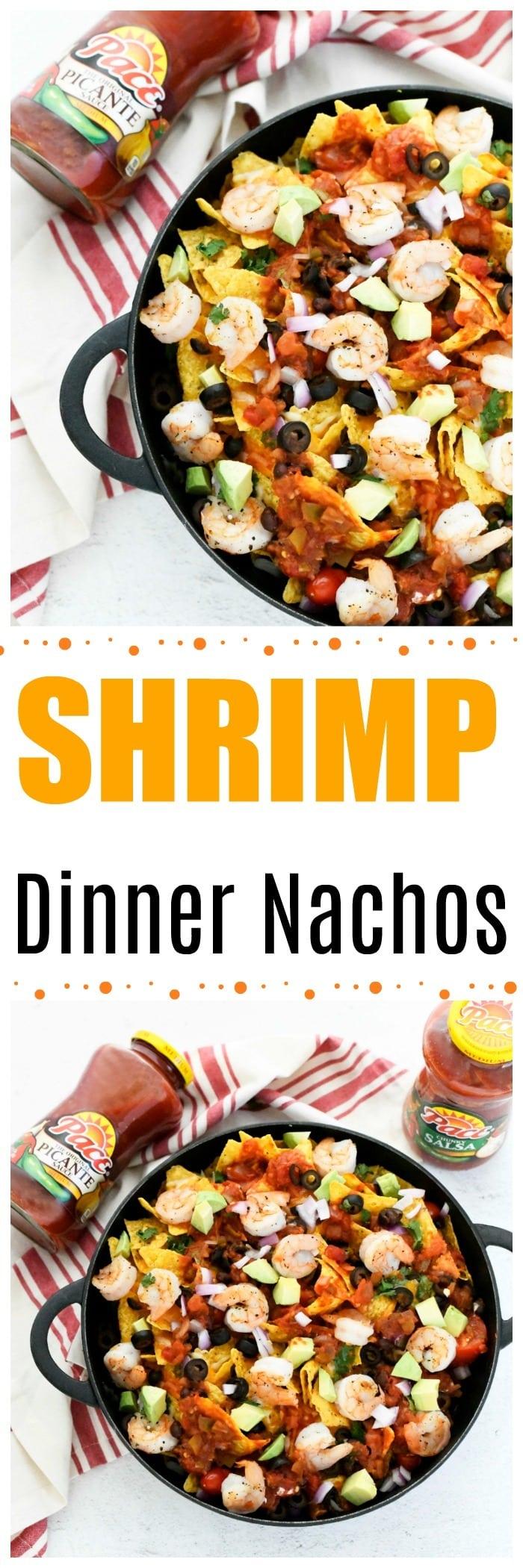 Hearty Shrimp Dinner Nachos