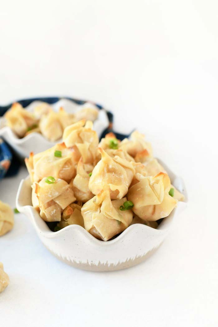oven baked wontons