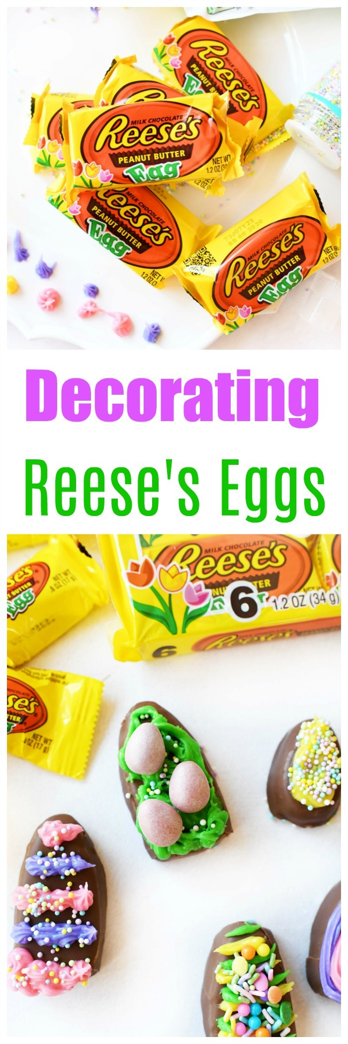 How to Decorate HERSHEY® REESE'S Easter Eggs