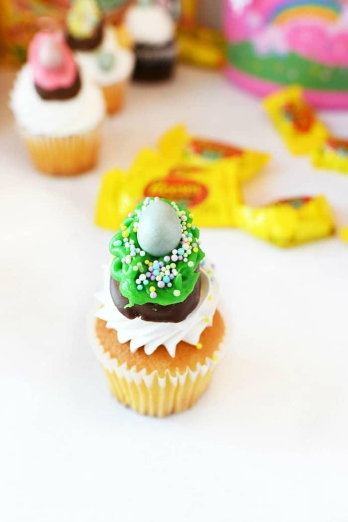 Reese's egg cupcake