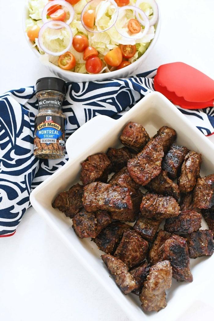 Grilled Steak Tips recipe