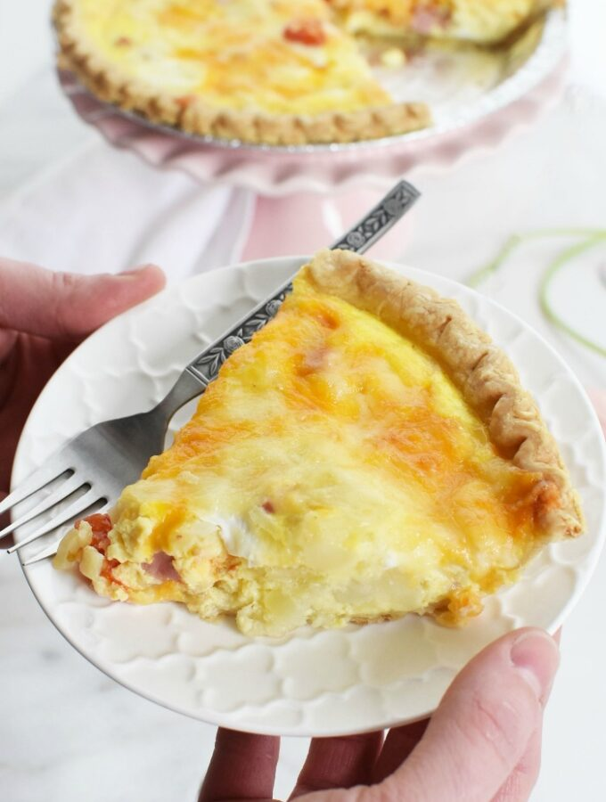 Slice of ham quiche