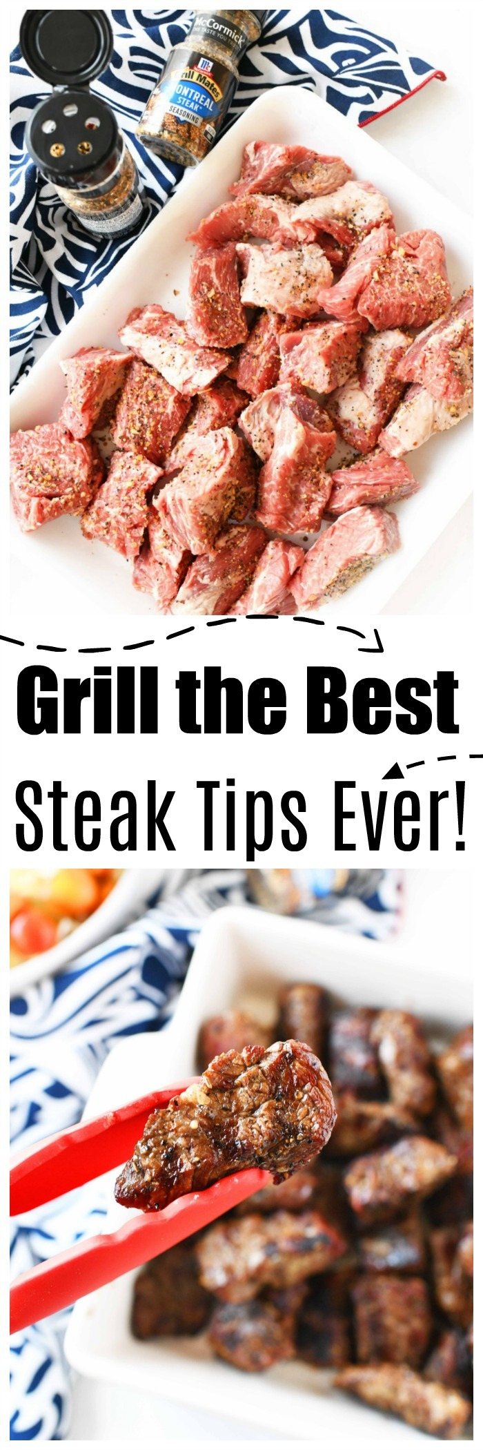 Grilled Montreal Steak Tips | Tender and Seasoned to Perfection!