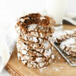 Carrot Cake Mix Cookies in stack