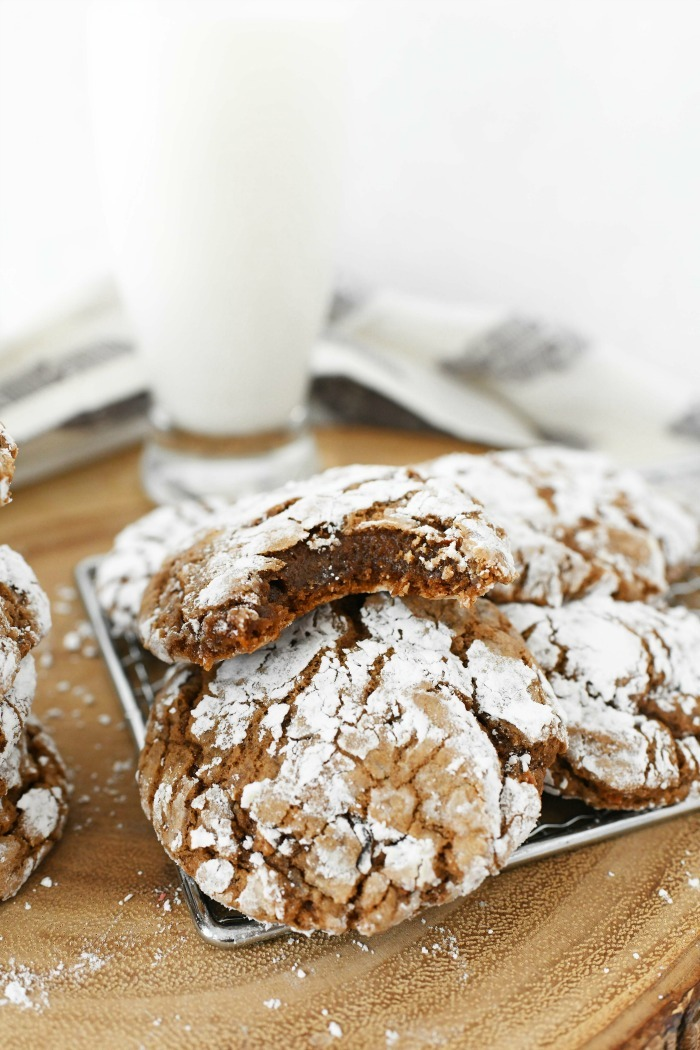 Carrot Cake Mix Crinkle Cookies