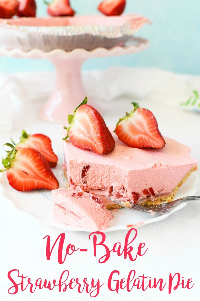 No-Bake Strawberry Gelatin Pie