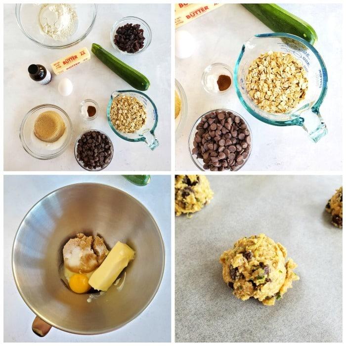 Zucchini cookie ingredients