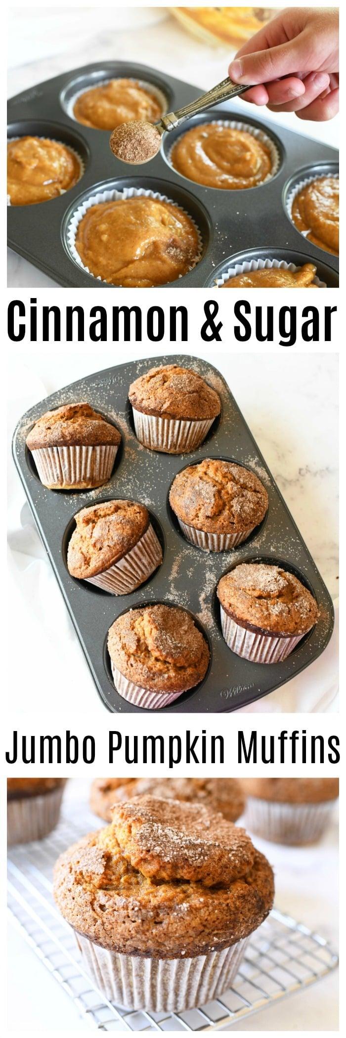 Jumbo Bakery Style Pumpkin Muffins