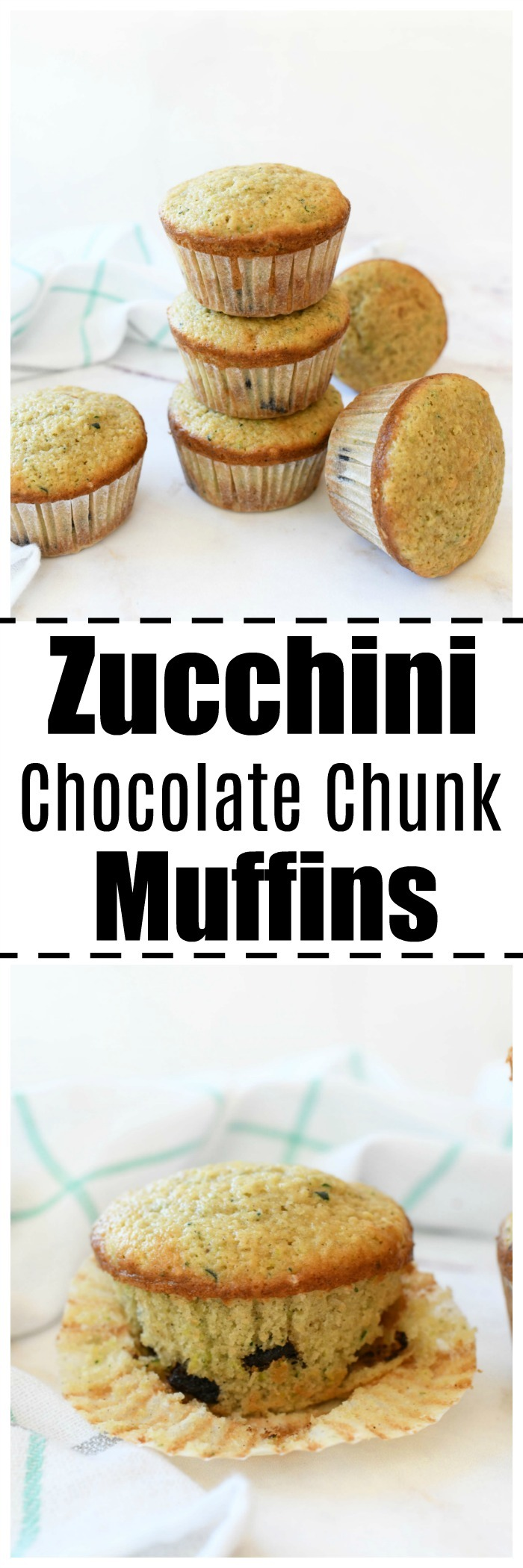 Zucchini Chocolate Chip Muffins (So Moist!)