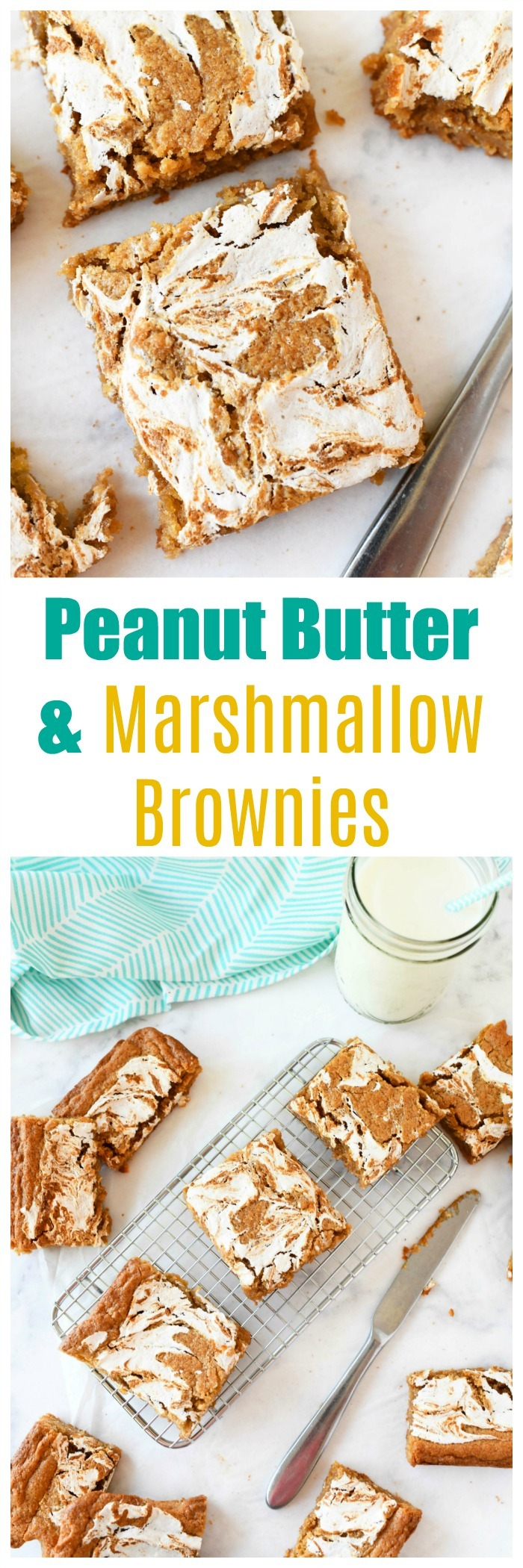 Peanut Butter & Marshmallow Brownies