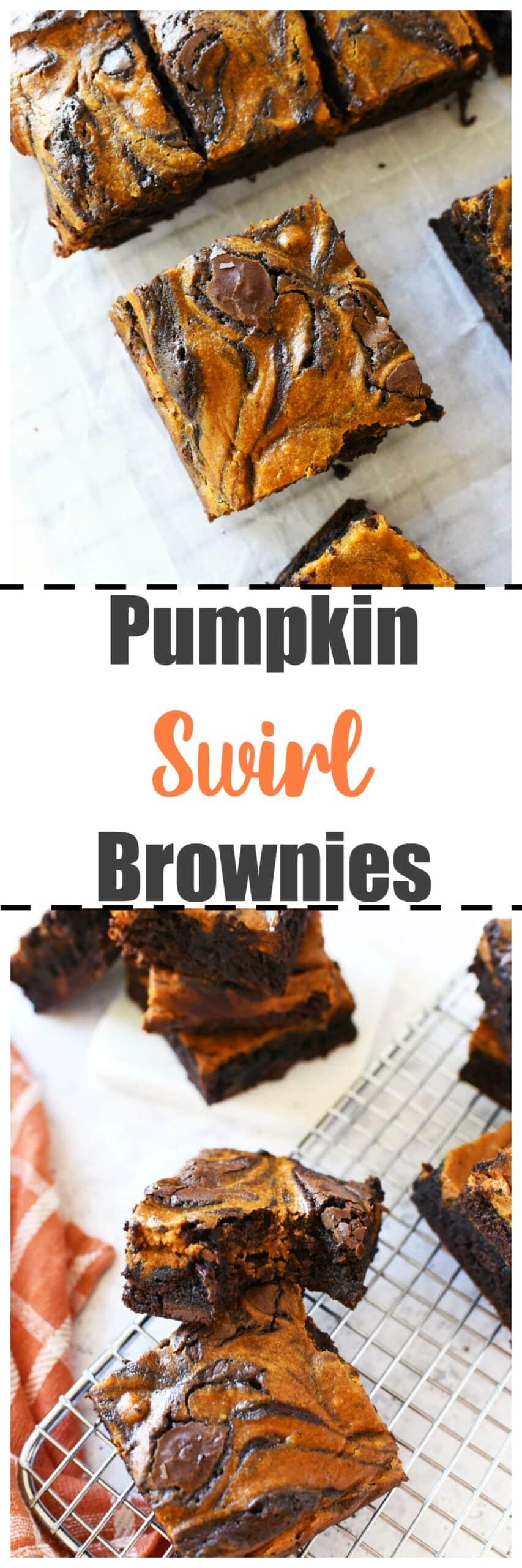Delicious Pumpkin Swirl Brownies