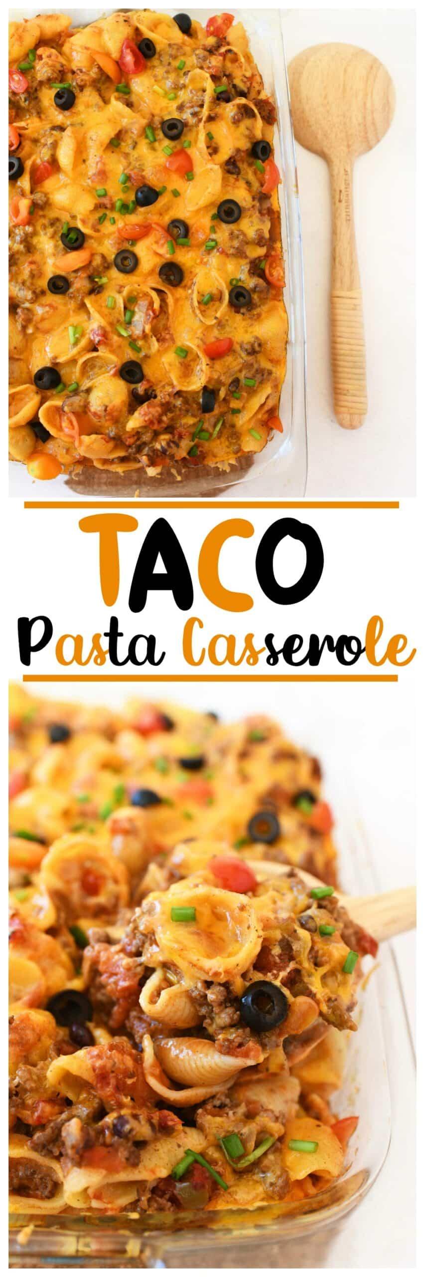 Cheesy Taco Pasta Casserole