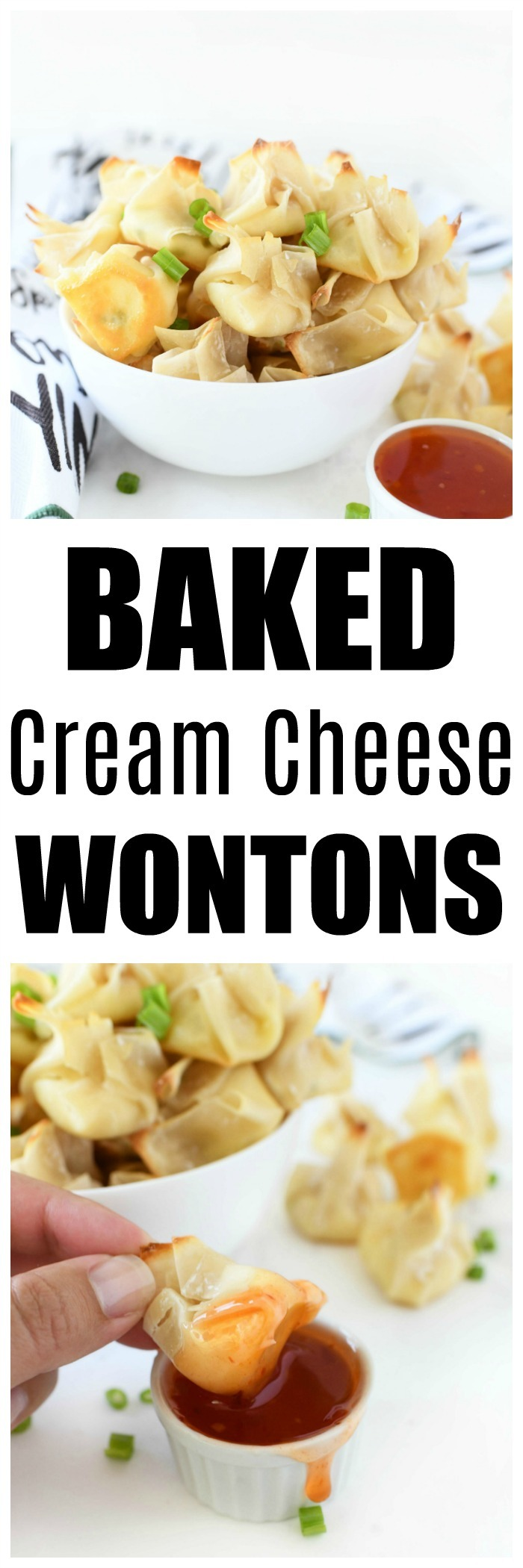 Baked Cream Cheese Wontons