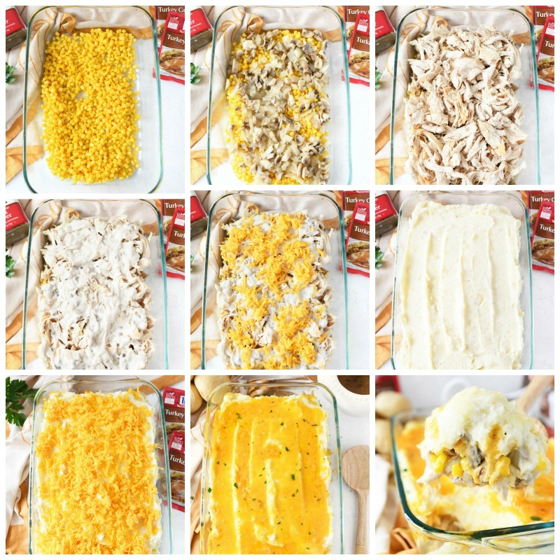 How to make layered turkey casserole a grid of making and layering this turkey casserole.