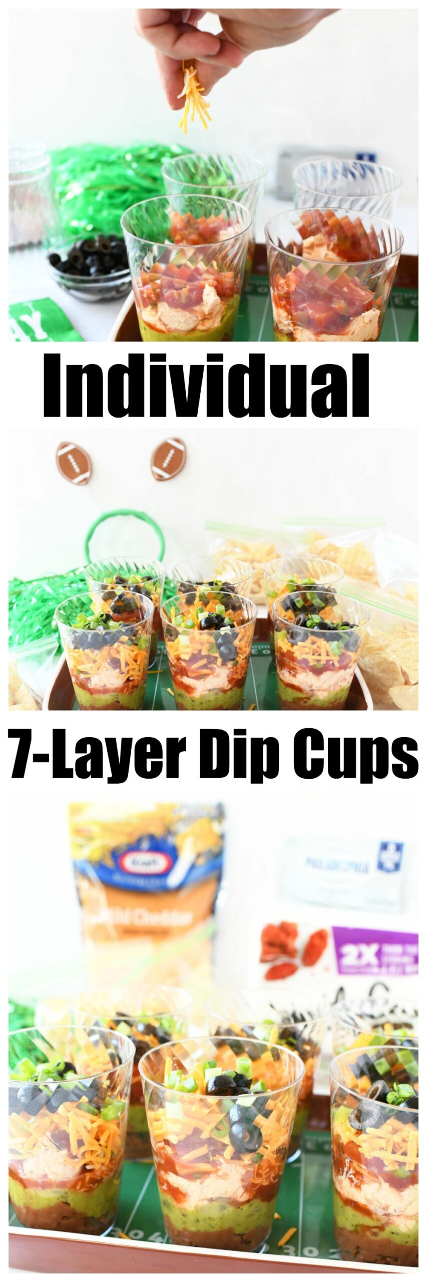 7-Layer Game Day Individual Dip Cups