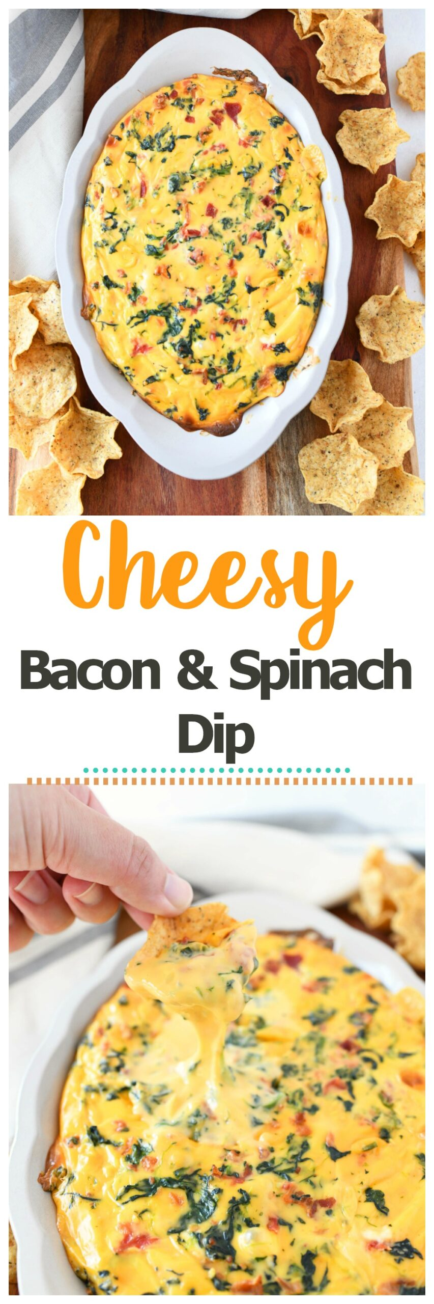 Baked Cheesy Bacon & Spinach Dip