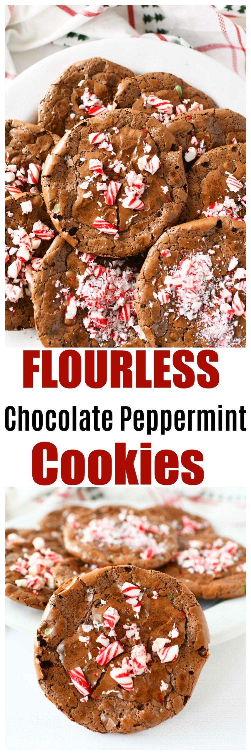 Easy Flourless Double Chocolate Cookies