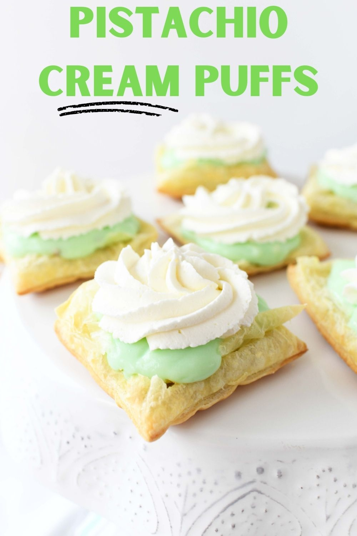 Pistachio Cream Puffs Dessert
