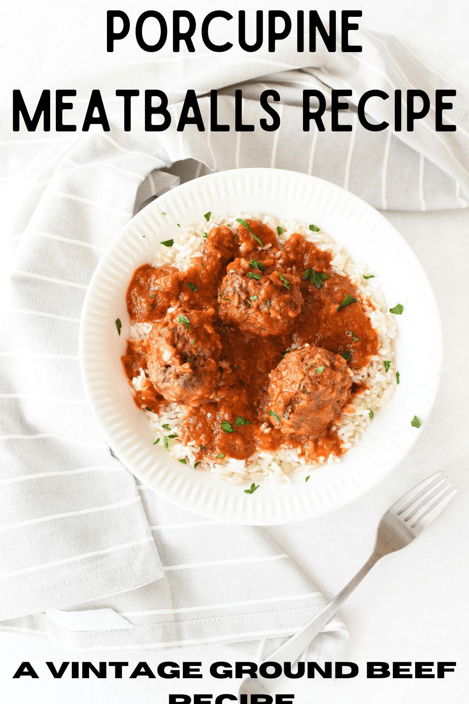Porcupine Meatballs - A Vintage Recipe