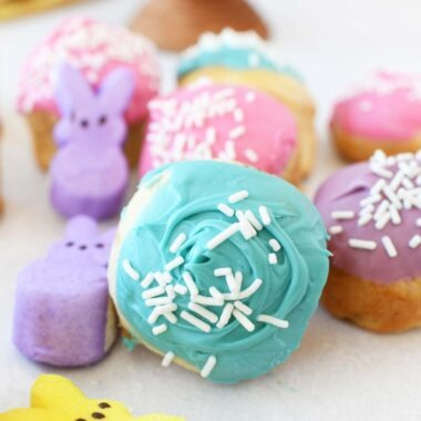 Peeps Magic Rolls - Peeps stuffed crescent rolls with colorful candy toppings.