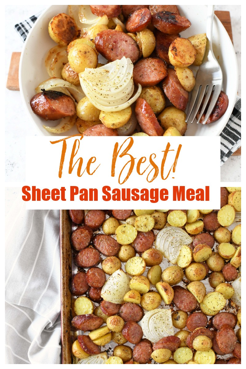Crispy Sausage & Potatoes Sheet Pan Meal
