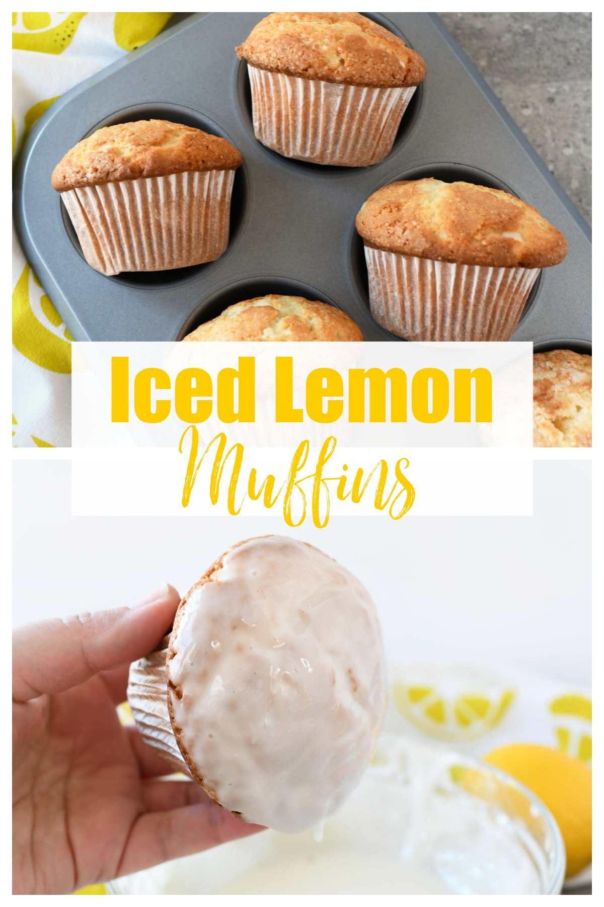 Vibrant Lemon Muffins with Icing