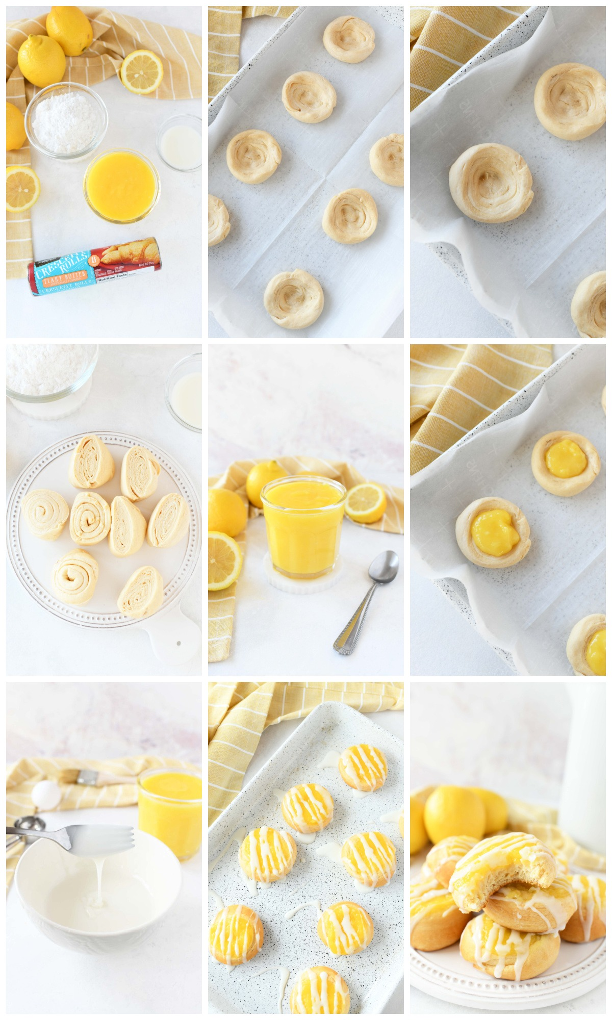 How to make lemon Danish collage of the recipe steps.
