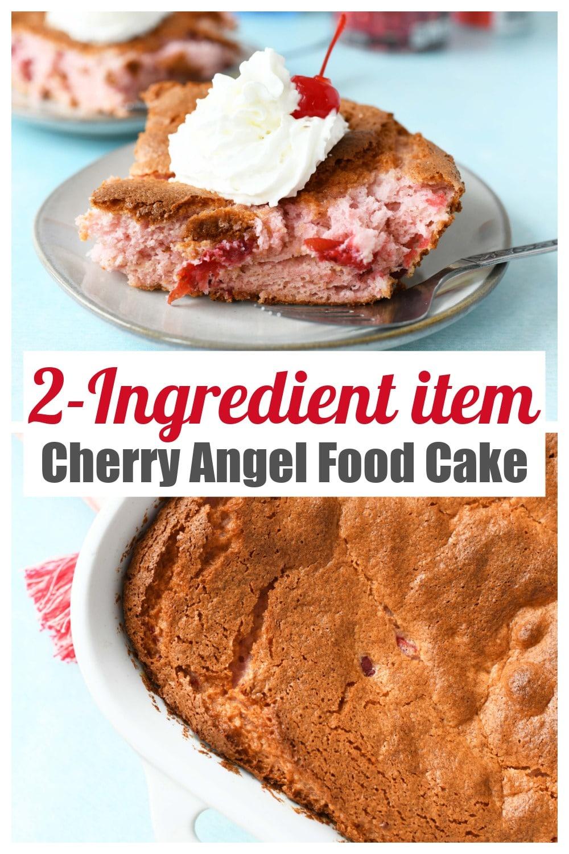 2 Ingredient Cherry Angel Food Cake