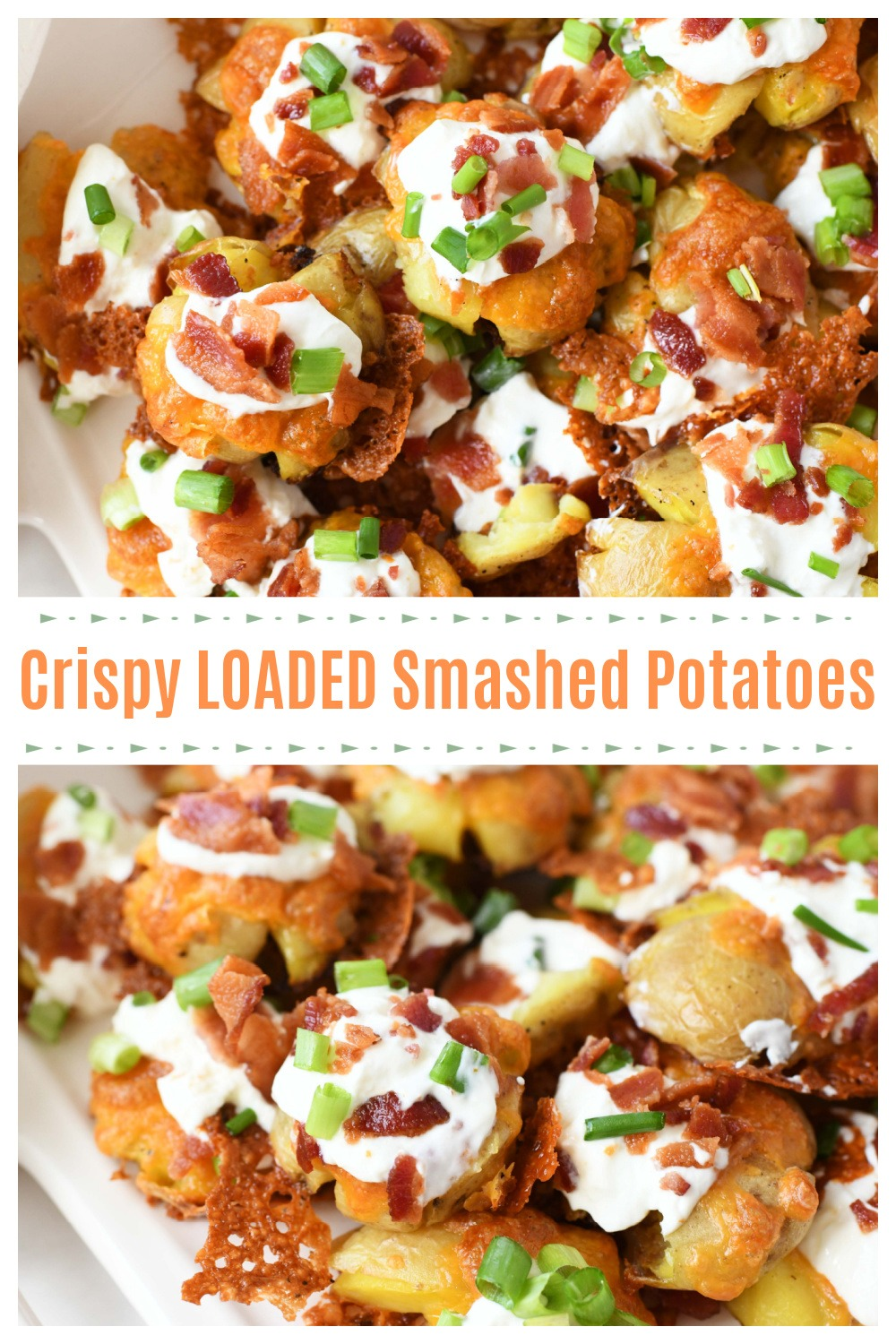 Easy Oven Baked Loaded Smashed Baby Potatoes