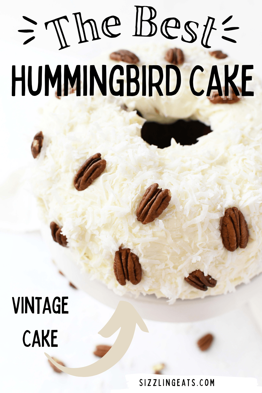 Hummingbird Bundt Cake with Cream Cheese Frosting