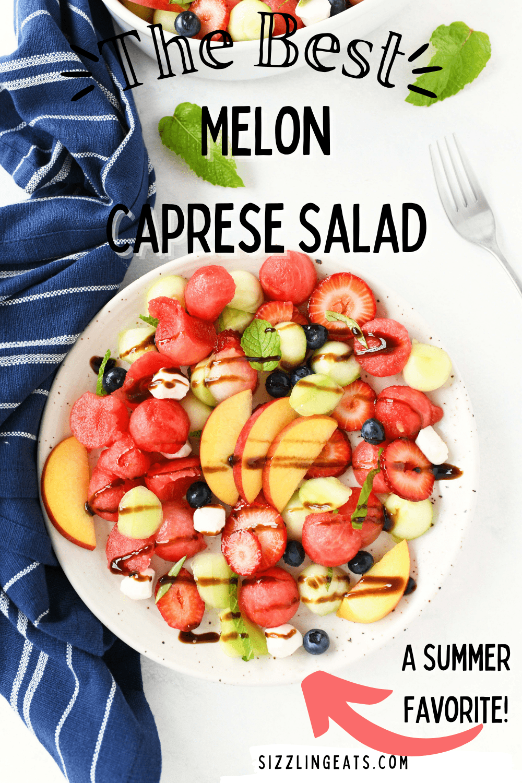 Watermelon Fruit Caprese Salad