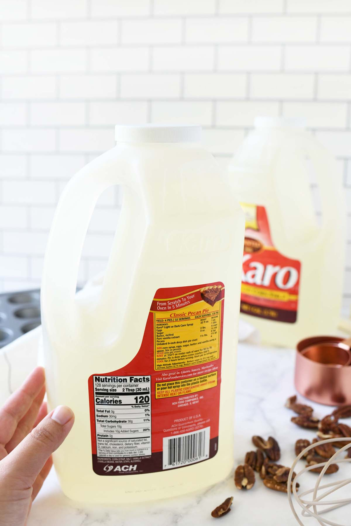 Karo Corn Syrup back of package.