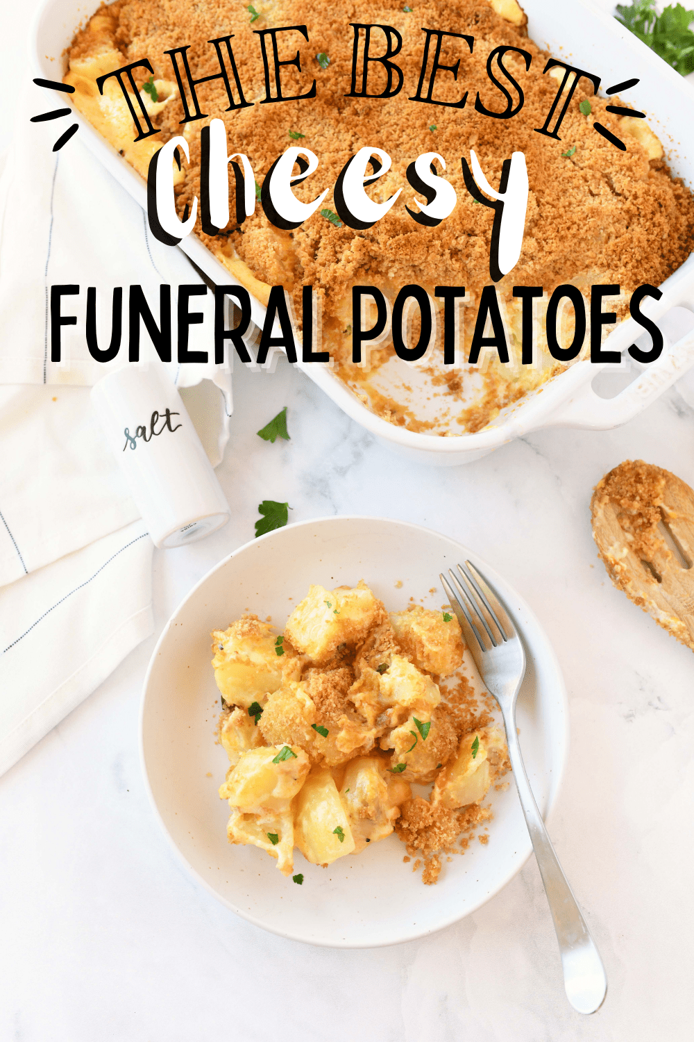 Funeral Potatoes with Ritz Cracker Topping